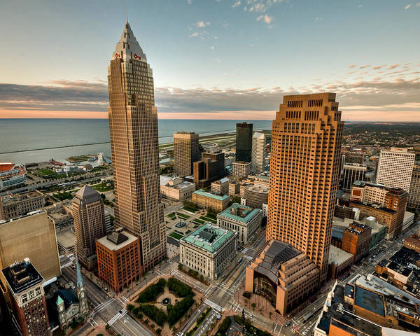 Cleveland From A Birds Eye View Poster