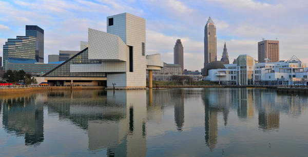 Cleveland Waterfront Daytime Panorama Poster