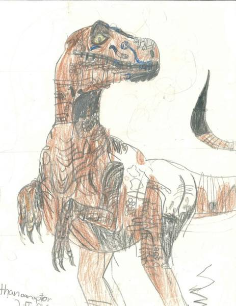 Poster featuring the drawing Clever Girl by Fred Hanna