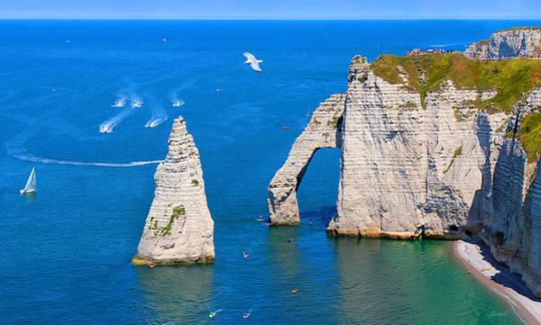 Cliffs Of Etretat France Poster