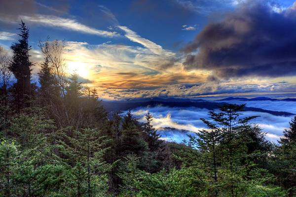 Clingman's Dome Sunset Poster