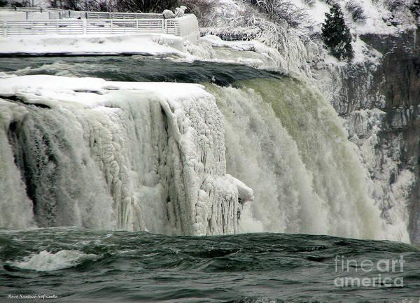 Closeup Of Icy Niagara Falls Poster