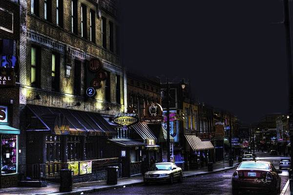 Memphis - Night - Closing Time On Beale Street Poster