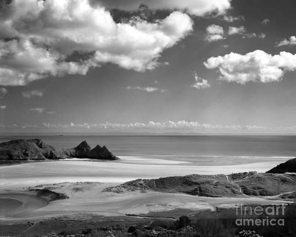 Cloudscape At Three Cliffs Poster