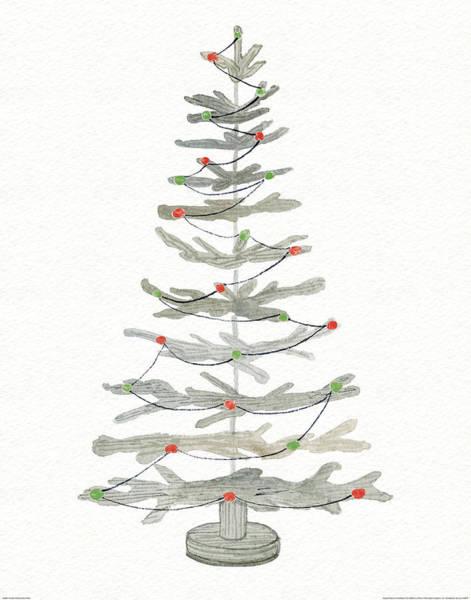 Coastal Holiday Tree II Red Poster