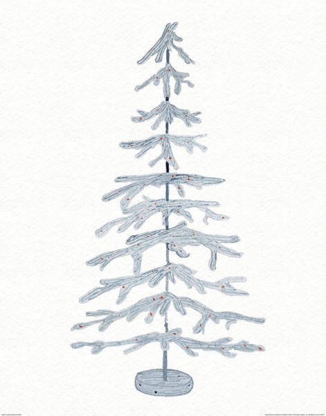Coastal Holiday Tree Iv Red Poster