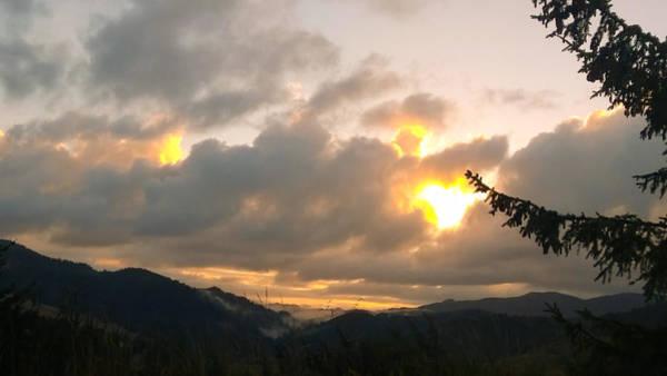 Coastal Mountain Sunrise II Poster