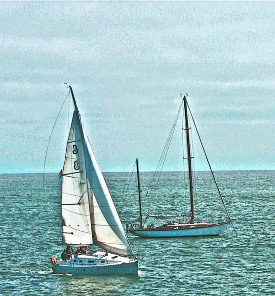 Coastal Sail Boats Poster