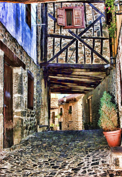 Cobble Streets Of Potes Spain By Diana Sainz Poster