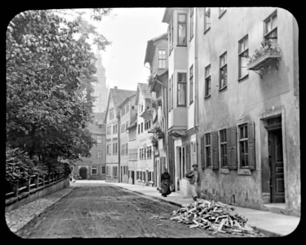 Coburg Germany Street Scene 1903 Poster