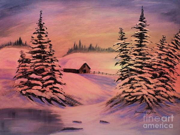 Cold Winter Sunset Poster