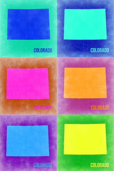 Colorado Pop Art Map 3 Poster