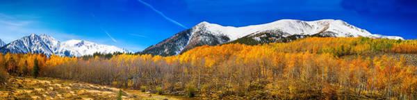 Colorado Rocky Mountain Independence Pass Autumn Panorama Poster