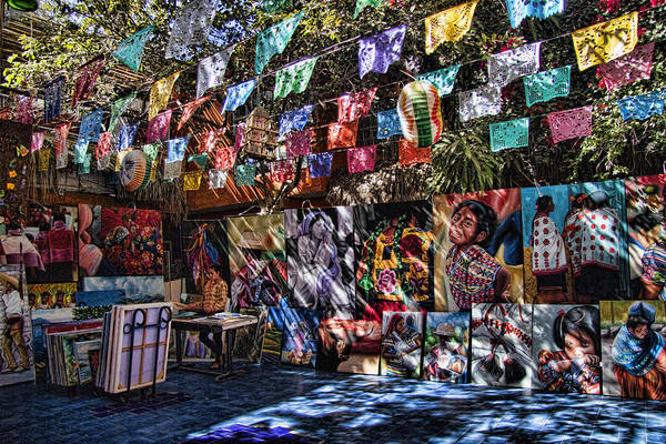 Colorful Art Store In Mexico Poster