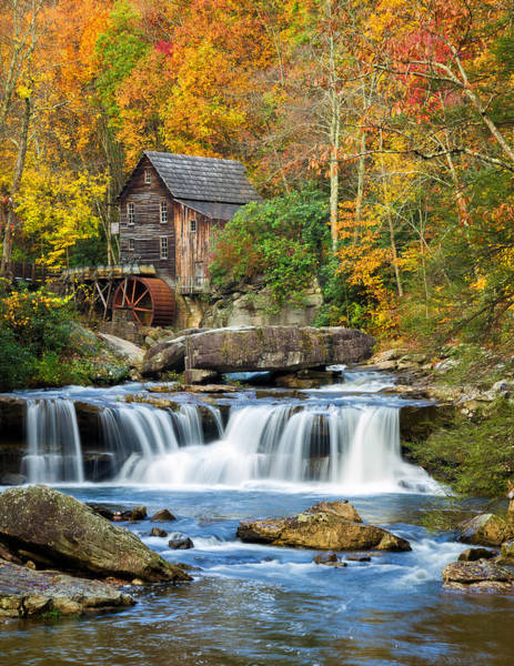 Colorful Autumn Grist Mill Poster