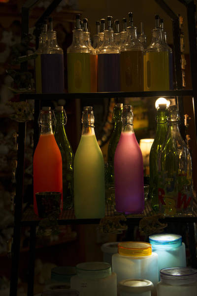 Colorful Bottle Display Poster