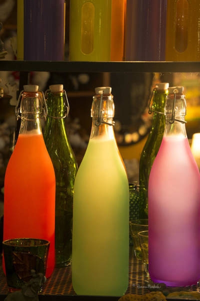 Colorful Bottles Closeup Poster