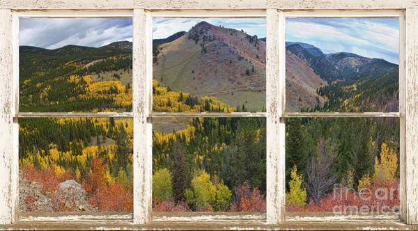 Colorful Colorado Rustic Window View Poster