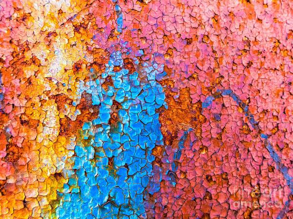 Colorful Cracks Poster