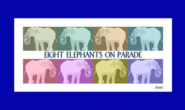 Pastel Elephants On Parade Poster