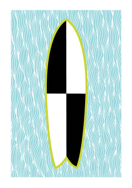 Colour Block Surfboard Poster