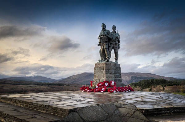 Commando Memorial At Spean Bridge Poster