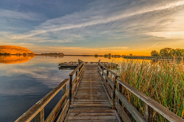 Contra Loma Dock At Sunrise Poster