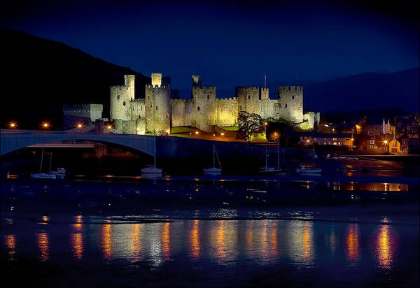 Conwy Castle At Night Poster