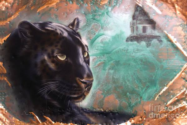 Copper Jaguar Poster