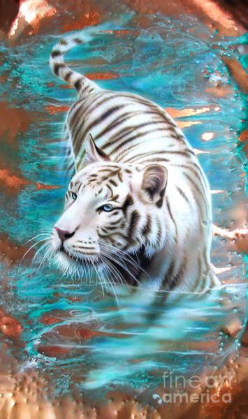 Copper White Tiger Poster