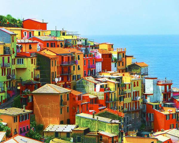 Poster featuring the photograph Corniglia Cinque Terre by Gigi Ebert