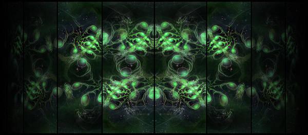 Cosmic Alien Eyes Green Poster