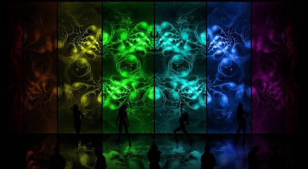 Cosmic Alien Vixens Pride Poster