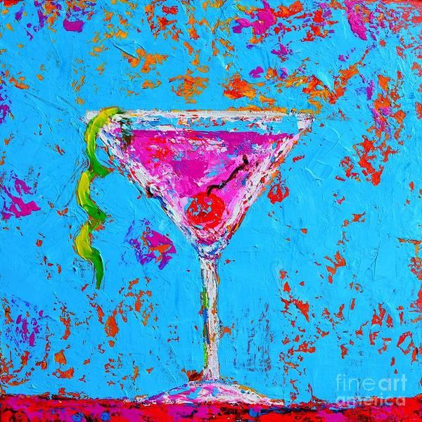 Cosmopolitan Martini Cherry Flavored - Modern Art Poster