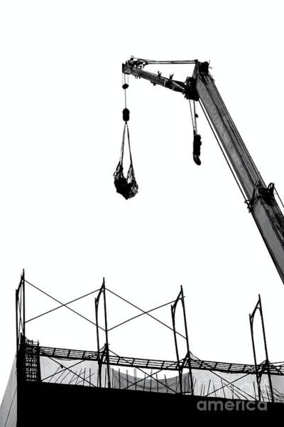 Crane And Construction Site Poster