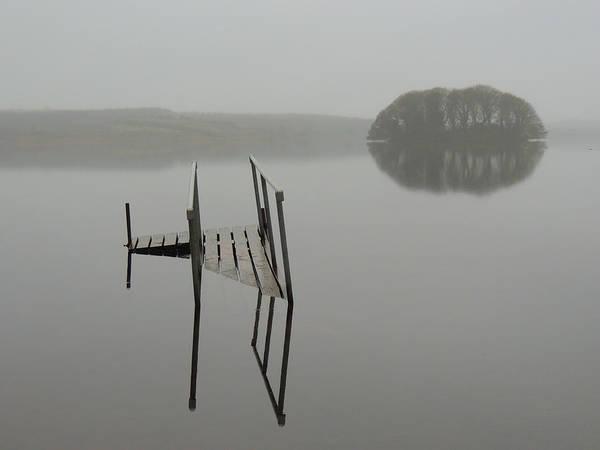 Crannog At Lake Knockalough Poster