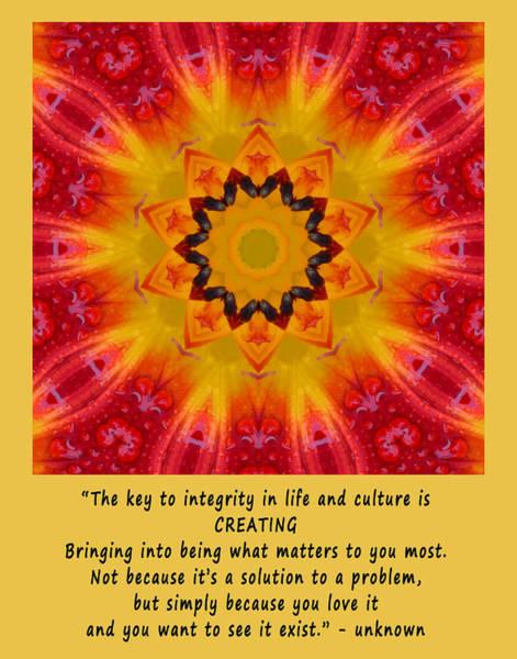 Creating Mandala Poster