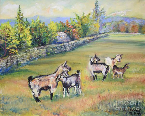 Croatian Goats Poster