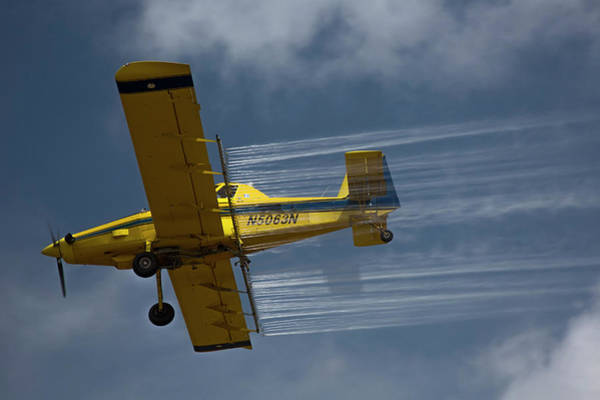Crop Duster Spraying Pesticides Poster
