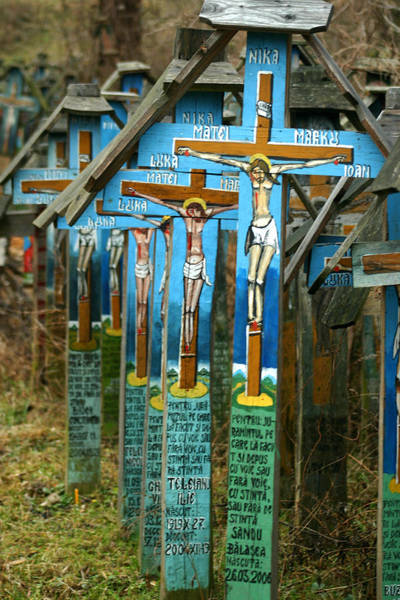 Crosses In An Orthodox Graveyard Poster