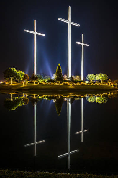 Crosses In Reflection Poster