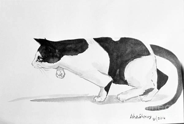 Crouching Cat Poster