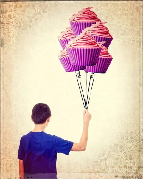 Cupcake Balloons Poster