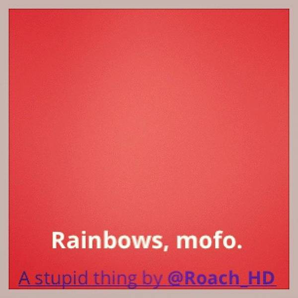 #cute Rainbow #background #effect With Poster