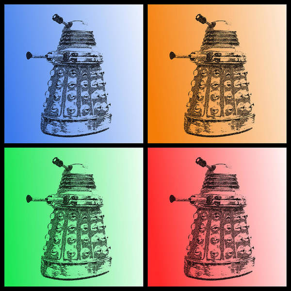 Dalek Pop Art Poster