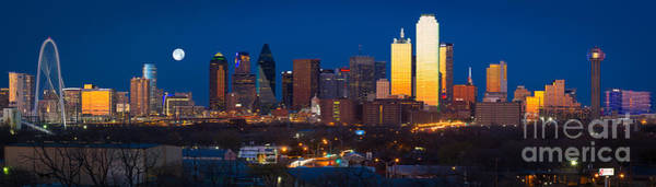 Dallas Skyline Panorama Poster