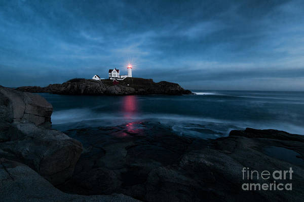 Dark Night At The Nubble Poster