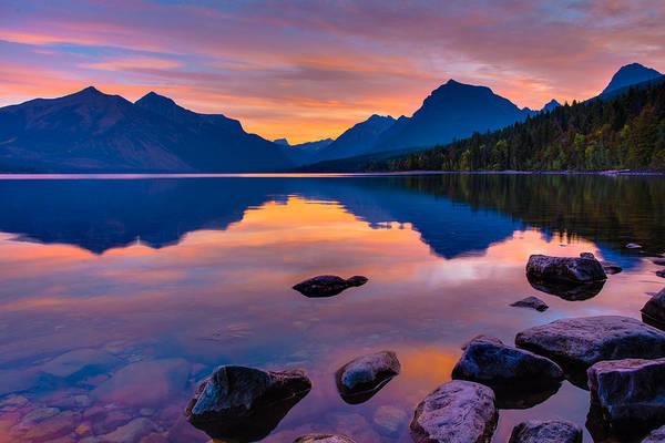 Dawn At Lake Mcdonald Poster
