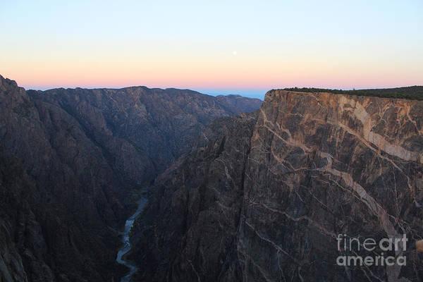 Dawn At The Black Canyon Poster