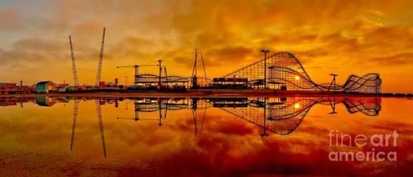Dawn At Wildwood Pier Poster